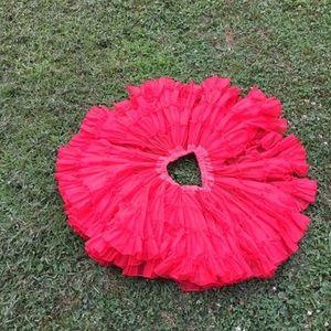 Vintage red cancan petticoat slip